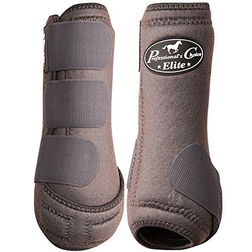 Professional's Choice Equine Sports Medicine Ventech Elite Leg Boot Value Pack, Set of 4 B01N2899X3 Large|Charcoal