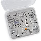 Embroidex 32 Sewing Feet in Deluxe Plastic Storage Case - Works with all Low Shank Embroidery