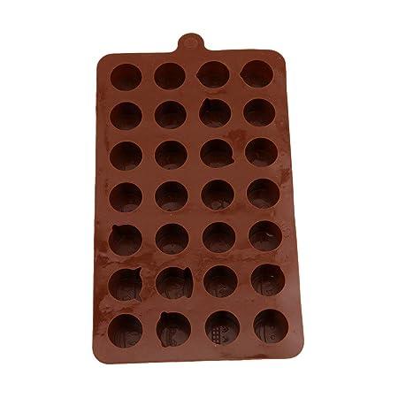 Idiytip - Molde para tarta con forma de emoji de 28 cavidades ...