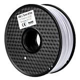 3D Filament ABS-1KG 1.75mm ABS 3D Printer Filament Dimensional Accuracy +/- 0.02 mm 1KG Spool White Filament for 3D Printing