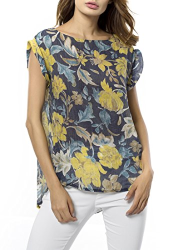 Tribear-Womens-Floral-Printed-Chiffon-Shirts-Tunic-Top-Blouse