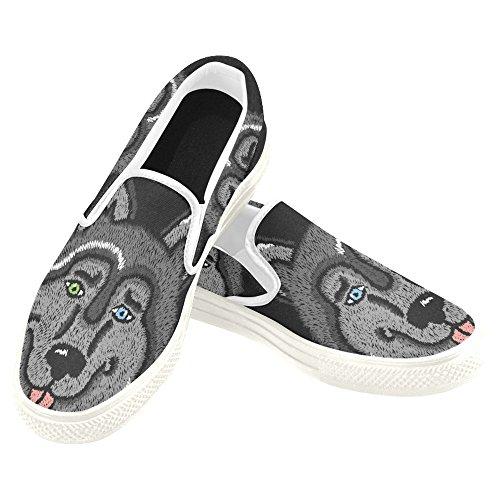 D-story Custom Sneaker Donna Slip-on Scarpe Di Tela Mullticolored17