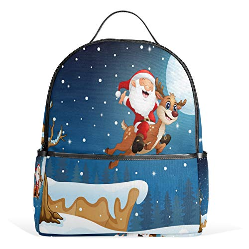 Bule Christmas Lingerie Travel Backpack Business Anti-Theft Ultra-Thin and Durable Backpack Men and Women Waterproof University Learning Computer Bag -