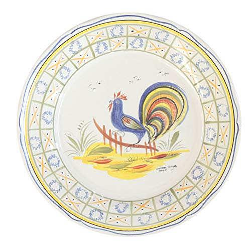 Quimper Genre Ancien Wall Plate GA8 - Made in France