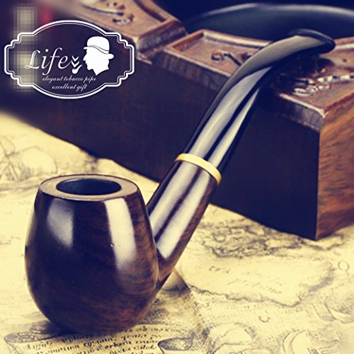 Lobular-Ebony-Smoking-Pipe-Elegant-Tobacco-Pipe-With-Accessories-And-Gift-Package