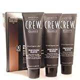 AMERICAN CREW Precision Blend Natural Gray Coverage 3x40ml 5-6 MEDIUM ASH by American Crew