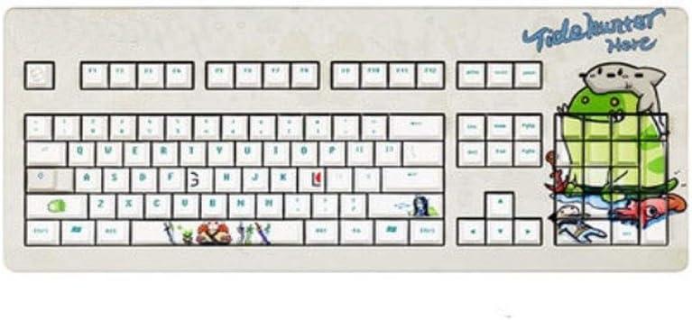 Teclado YCBHD, diseño de dibujos animados, teclado ergonómico ...