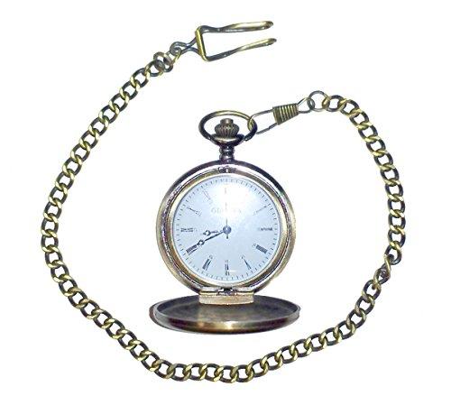 Watch Timepiece Pocket (Pocket Watch - Antique Gold Finish Time Piece)