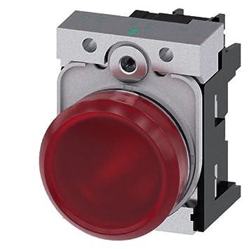 Siemens 3SU1152-6AA20-1AA0 24V Rojo indicador de luz para ...