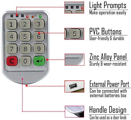 Combination Lock for Cabinet Drawer Locker WOOCH Electronic ...