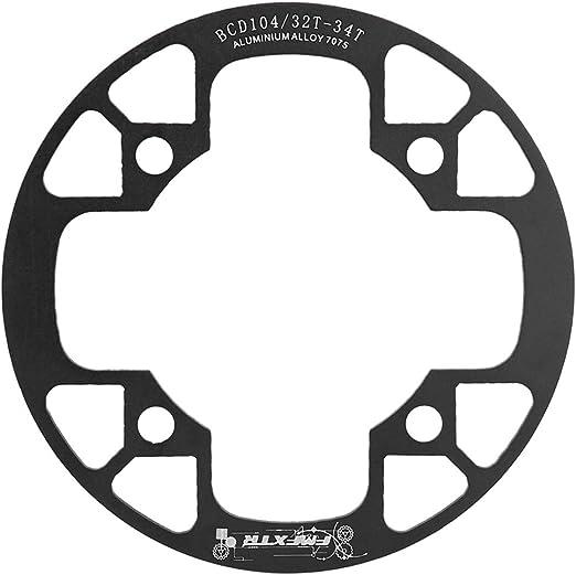 Lorjoyx Tapa de la Cubierta Protectora Conjunto de Platos de montaña Camino de la Bicicleta de la Bici Plegable Conjunto de Platos y bielas Protección Cubierta MTB: Amazon.es: Hogar