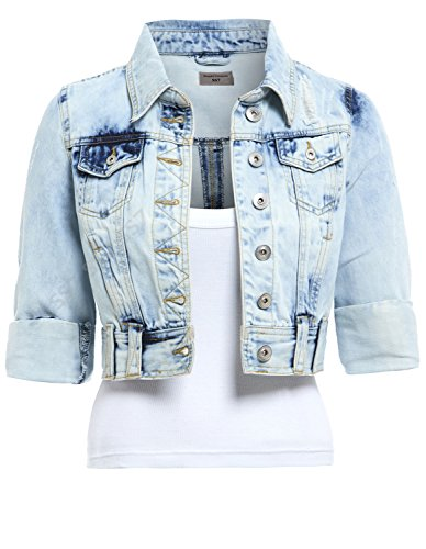Light Blue Donna Giacca Giacca texana SS7 Denim Ozpaqwn