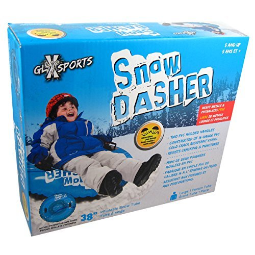 Snow Dasher 38-inch Inflatable Winter Sledding Snow Tube - Assorted Colors