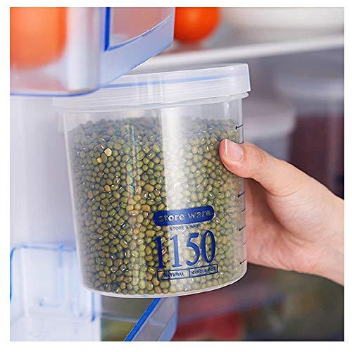 (MOVEmen Sealed Cans Kitchen Storage Box Transparent Food Canister Keep Fresh Seasoning Snack Crisper Gift Box Washing Rack Cosmetic Box Makeup Rack Grain Tank Classification Measuring Cup)