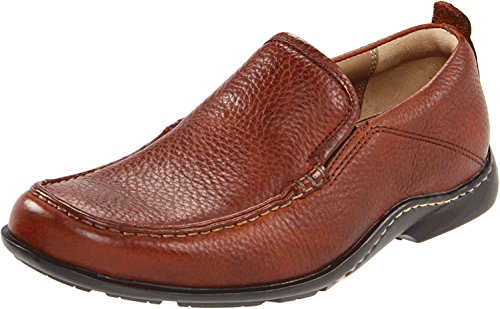 Hush Puppies Mens GT Slip-On Loafer, Red/Brown Leather, 50 3E EU/15 3E UK