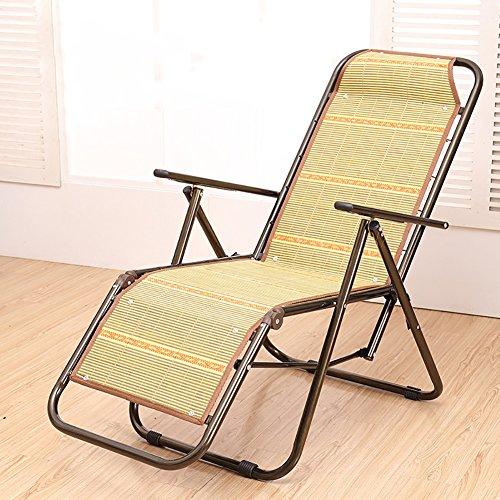 Chaise De Plage Loisirs Bureau Pliante Salon Plein Air Bambou Rotin
