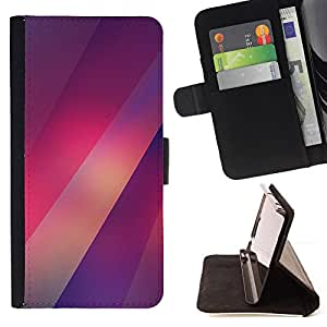 - Queen Pattern FOR HTC One M9 /La identificaci????n del cr????dito ranuras para tarjetas tir????n de la caja Cartera de cuero cubie - lines red purple lights pattern blurry -