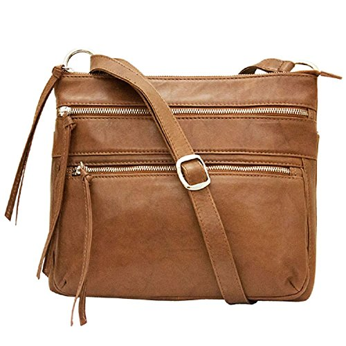 Saddle Handbag Zip 6300 Leather Crossbody Antique ili wzYRvIxqO