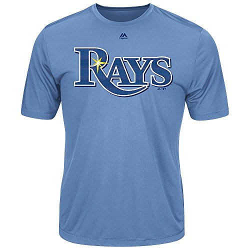 Tampa Bay Rays Adult Evolution Color T-Shirt (Small, Light - Outlet Tampa