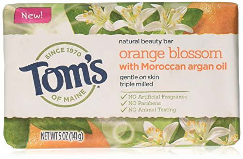 Bath Blossom Natural (Tom's of Maine Natural Beauty Bar Soap With Moroccan Argan Oil, Orange Blossom Beauty Bar, 5 Ounce, 6 Count)