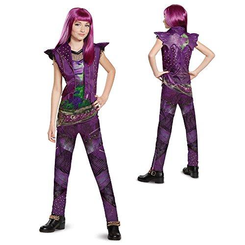 Disney Mal Classic Descendants 2 Costume  Purple  Small  4 6X