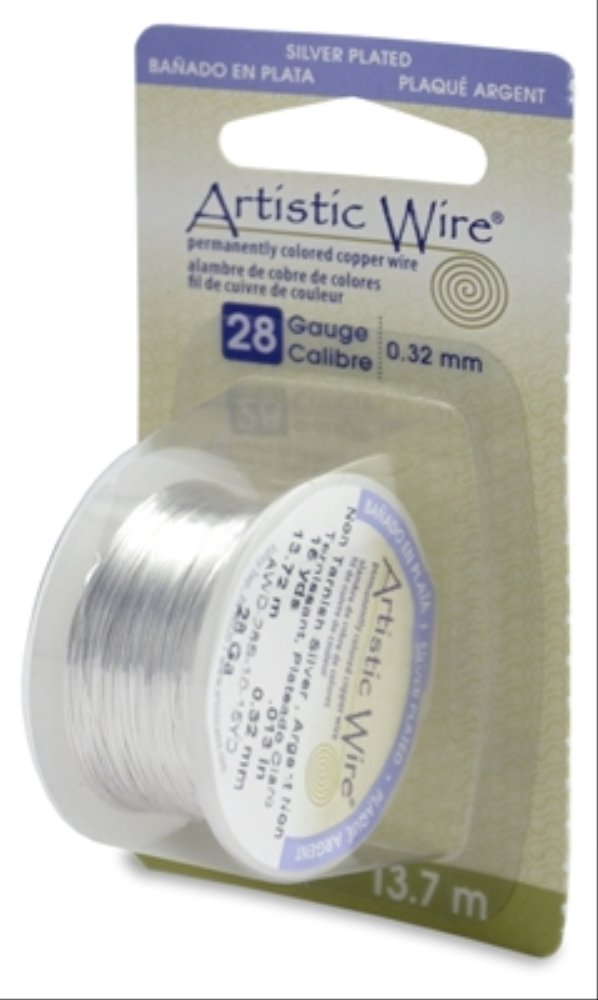 Artistic Wire 28-Gauge Non-Tarnish Brass Wire, 15-Yards Beadalon AWD-28-NTB-15YD