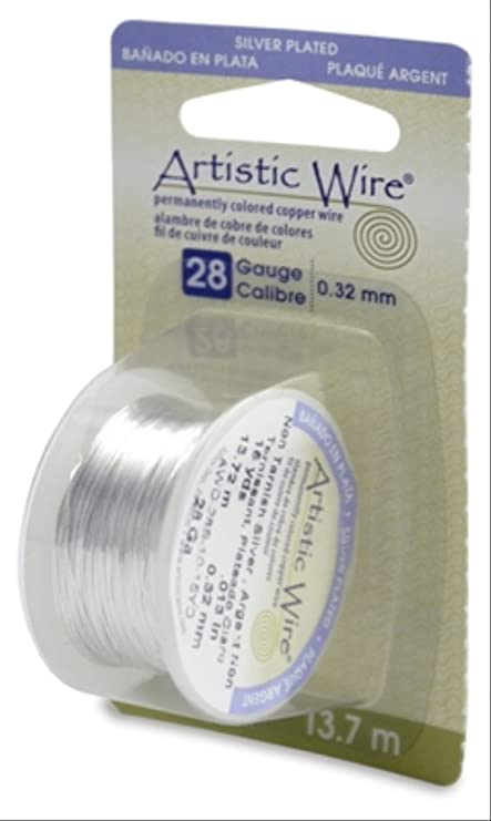 Colored wire 28 gauge wire center amazon com beadalon artistic wire 28 gauge tarnish resistant silver rh amazon com 12 gauge wire greentooth Image collections