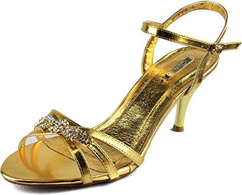 Celeste Mari-01 Rhinestone Ankle Strap Evening Shoes Gold NAbe0U0Bs