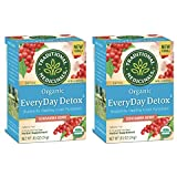Traditional Medicinals Organic EveryDay Detox Schisandra Berry Detox Tea, 16 Tea Bags (Pack of 2)