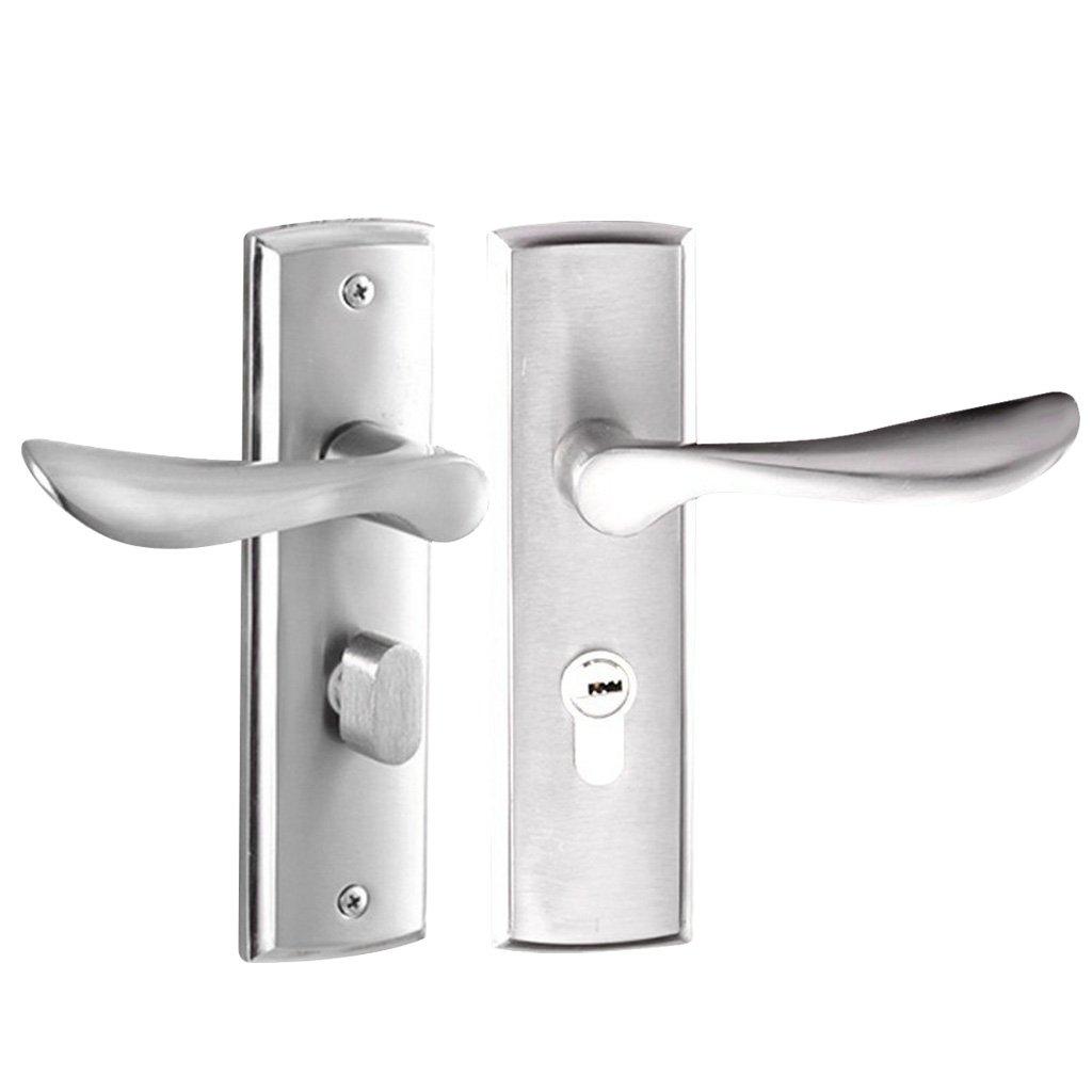 MagiDeal Aluminum Alloy Door Handle Lock Home Entry Security Door Lockset for Bedroom Bathroom Latch 3 Keys #1