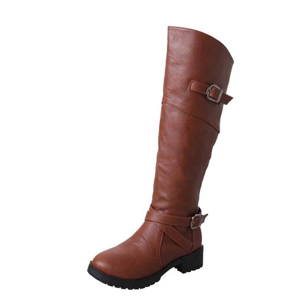 Over The Knie Stiefel Damen Komfortable Anti-Rutsch Martin Stiefel Für Damen Stiefel Im Herbst Und Winter