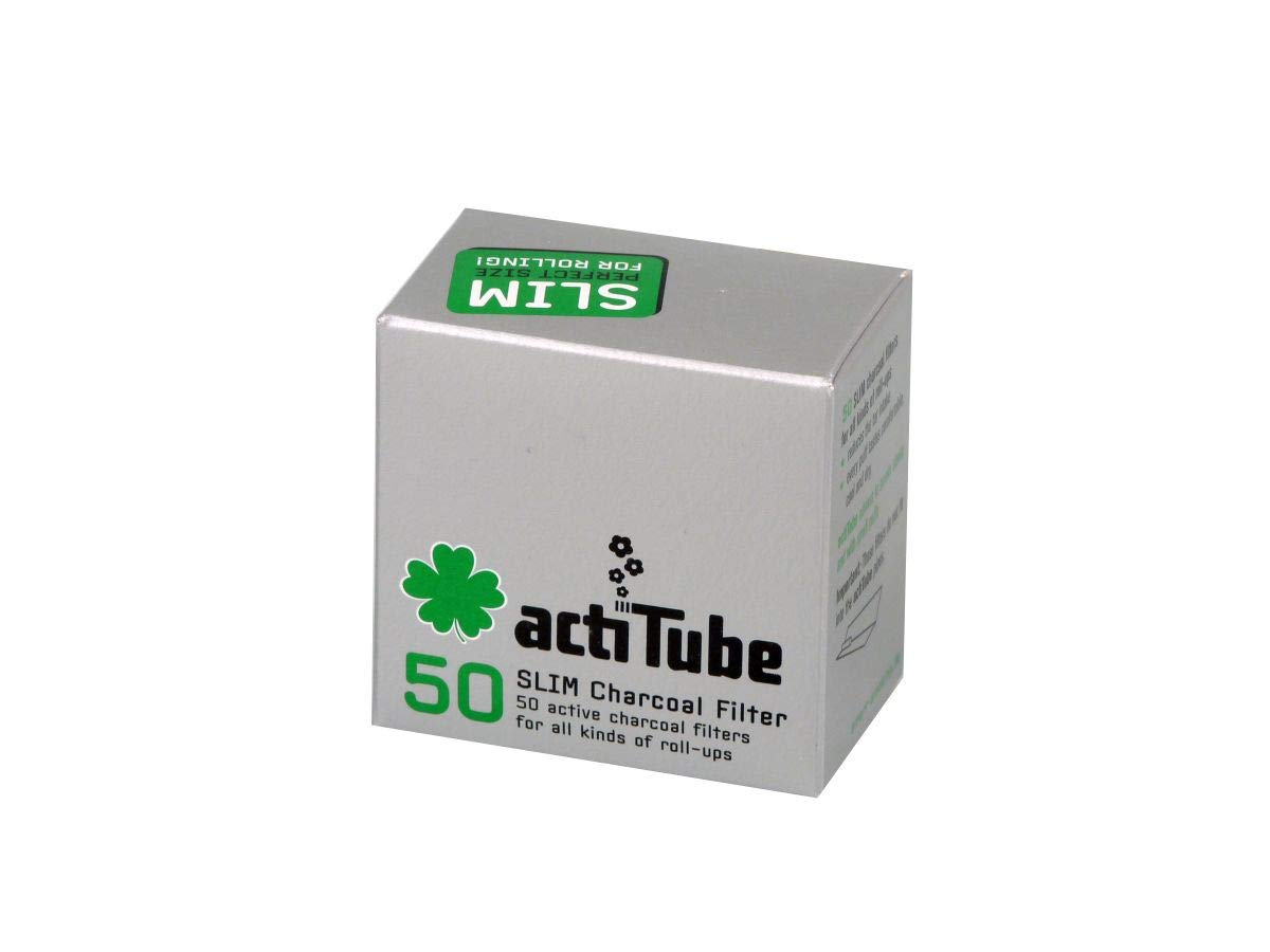actiTube 4 x Slim Activated Carbon, 4 x 50 = 200 Filters, 0, Silver, 1-Pack