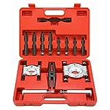 """8milelake 14PCS Bearing Separator Puller Set 2"""" and 3"""" Splitters Remove Bearings Kit, Heavy Duty"""