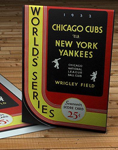 (1932 Vintage Chicago Cubs - New York Yankees World Series Program - Canvas Gallery Wrap - 11 x 16)