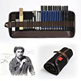Tinpa 33 Pieces Professional Sketch Drawing Pencils Set With Graphite Pencils,Charcoal Pencils,Craft Knife,Drawing Pencils Pro at Supply for Artist,Beginner,Student