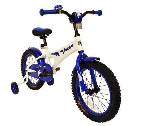 "Verso by Kettler 16"" Bike with Removable Training Wheels: Falcon (Cobalt Blue), Youth Ages 4 to 7"