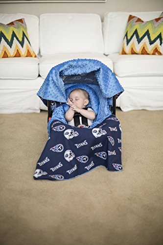 (NFL Tennessee Titans The Whole Caboodle 5PC set - Baby Car Seat Canopy with matching accessories )