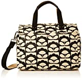 Orla Kiely Women's Spring Bloom Small Zip Messenger, Charcoal