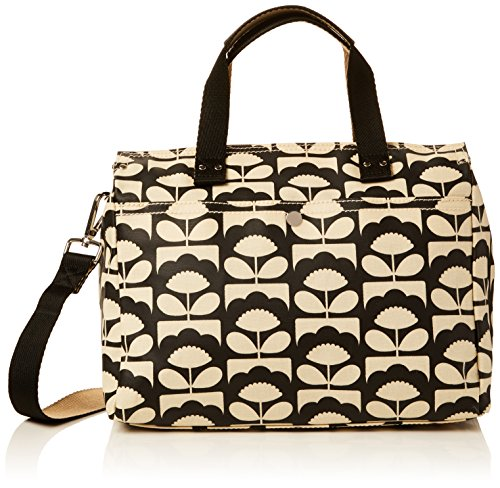 Orla Kiely Women's Spring Bloom Small Zip Messenger, Charcoal by Orla Kiely