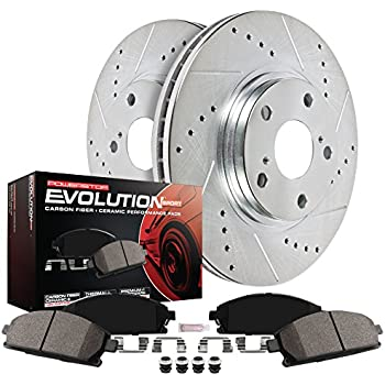 740iL Front Rear Gold Drill Slot Brake Rotors+Ceramic Brake Pads Fits BMW 740i