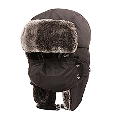 YING LAN Unisex Kids Girls Boys Faux Fur Winter Windproof Outdoor Ski Cap