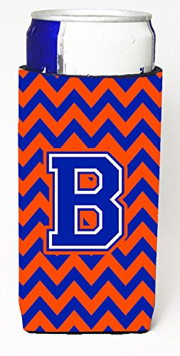 Letter B Chevron Orange And Blue Ultra Beverage Insulators For Slim Cans Cj1044 Bmuk