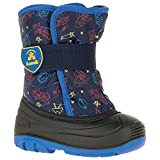 Kamik Boys' Snowbug4 Snow Boot, Navy/Strong Blue, 6 Medium US Toddler