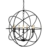 Cheap Yosemite Home Decor SCFP2005-7-RS   7 Lights Mini Chandelier, Rustic Finish, Black
