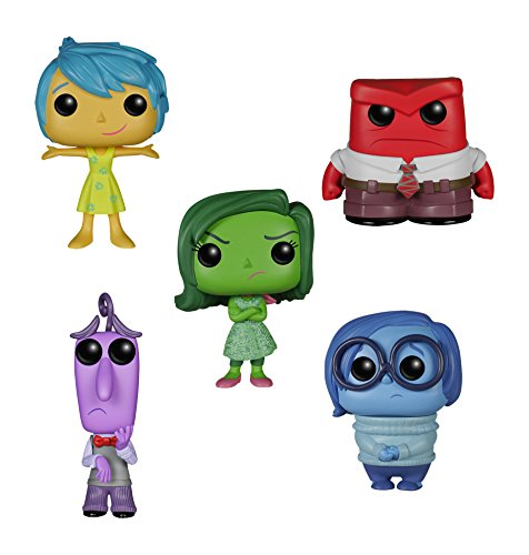 Funko Inside Out POP! Disney/Pixar Vinyl Collectors Set: Sadness, Joy, Disgust, Anger, Fear Action Figure