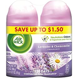 Air Wick Freshmatic Automatic Spray Refill Air Freshener, Lavender & Chamomile, 2 Refills, 12.34oz