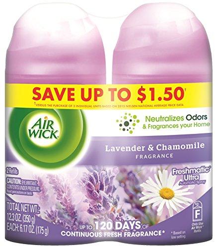 Air Wick Freshmatic Automatic Spray Refill Air Freshener, Lavender & Chamomile, 2 Refills, 12.34oz