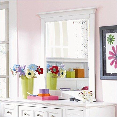 Magnussen Kenley Portrait Mirror in White (Mirror Dresser Portrait)