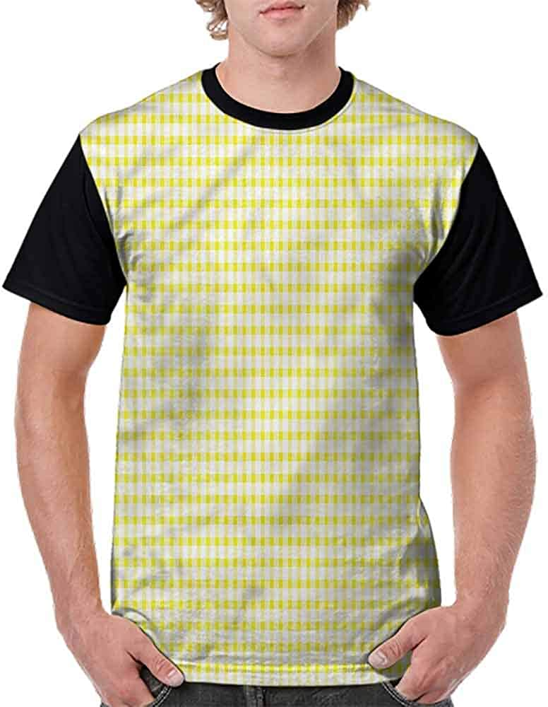 BlountDecor Loose T Shirt,Checkered Design Fashion Personality Customization
