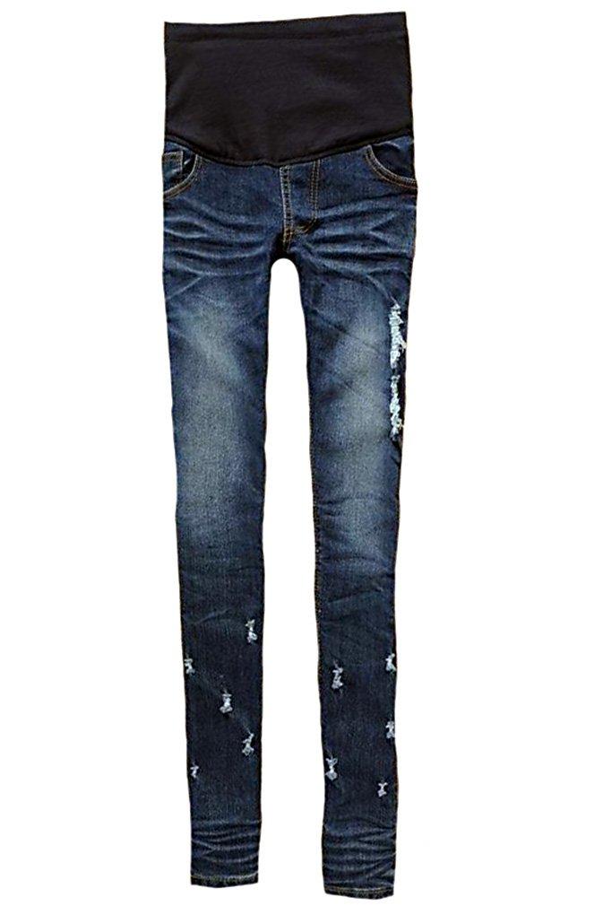 MTRNTY Women's Maternity High Elastic Waist Skinny Jeans 3001, Medium
